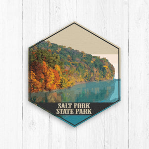 Salt Fork State Park Ohio Hexagon Illustration