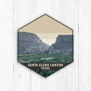 Santa Elena Canyon Texas Hexagon Illustration by Printed Marketplace