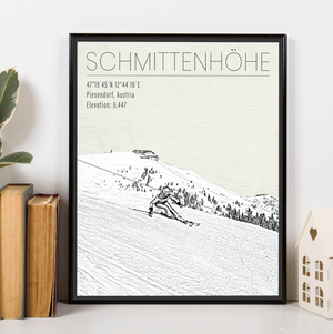 Schmittenhöhe Austria Ski Resort Print | Hanging Canvas of Schmittenhöhe Ski Resort | Printed Marketplace