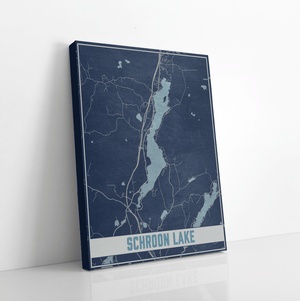 Schroon Lake New York Lake Map Print