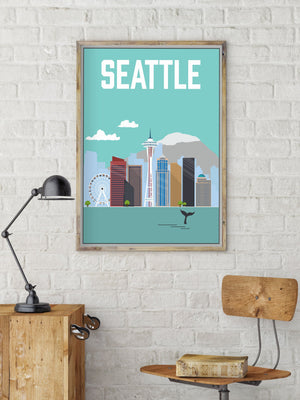 Seattle Modern Illustration