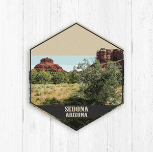 Sedona Arizona Hexagon Canvas Print
