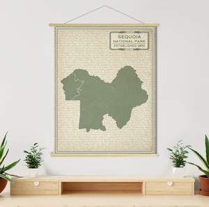 Sequoia National Park Street Map Print
