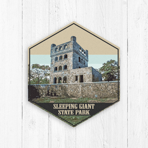Sleeping Giant State Park Connecticut Hexagon Print
