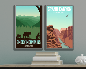 Great Smoky Mountains National Park Modern Illustration