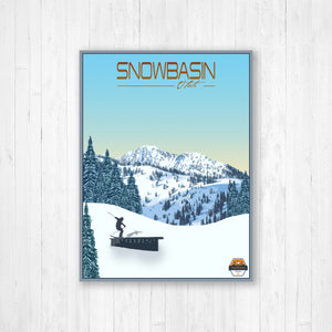 Snowbasin Modern Illustration Print by Printed Marketplace