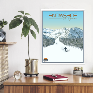 Snowshoe Modern Illustration Print by Printed Marketplace