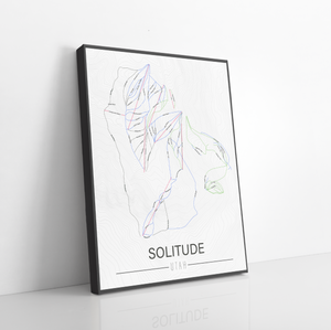 Solitude Utah Ski Trail Map | Hanging Canvas of Solitude Ski Trail | Printed Marketplace