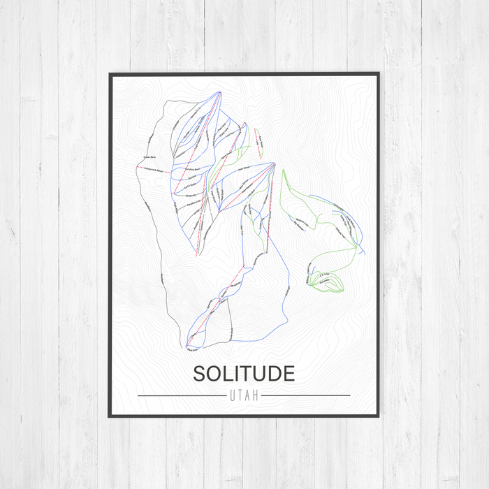 Solitude Ski Resort Illustration Print