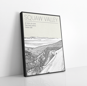 Squaw Valley California Ski Resort Print
