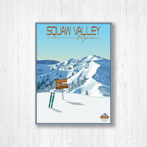 Squaw Valley Modern Illustration Print by Printed Marketplace