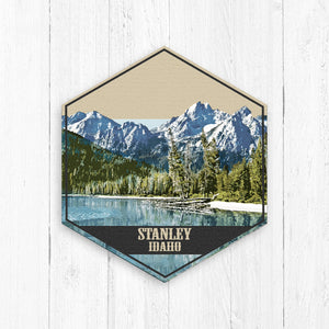 Stanley Idaho Hexagon Illustration Canvas