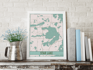 Star Lake Minnesota Lake Map Print