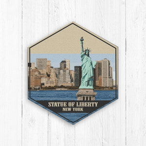 Statue of Liberty New York Hexagon Illustration