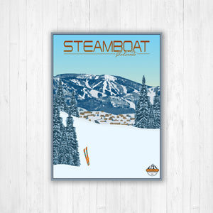 Steamboat Modern Illustration Print by Printed Marketplace