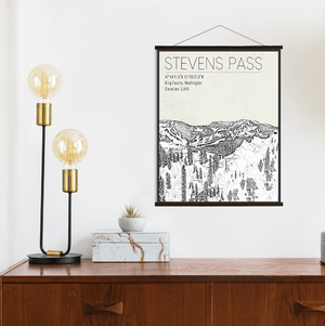 Stevens Pass Washington Ski Resort Print