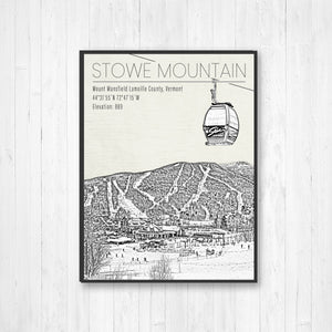 Stowe Mountain Print