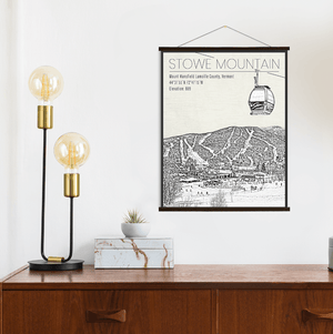 Stowe Mountain Vermont Ski Resort Print