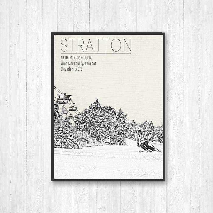 Stratton Vermont Ski Resort Print