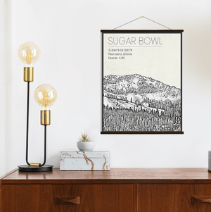 Sugar Bowl California Ski Resort Print