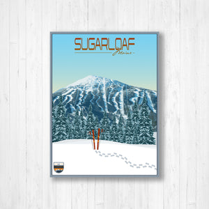 Sugarloaf Modern Illustration Print by Printed Marketplace