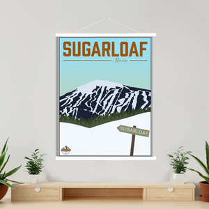 Hanging Canvas of Sugarloaf Maine Ski Resort By Printed Marketplace