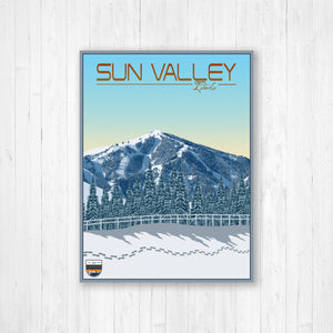 Sun Valley Modern Illustration Print by Printed Marketplace