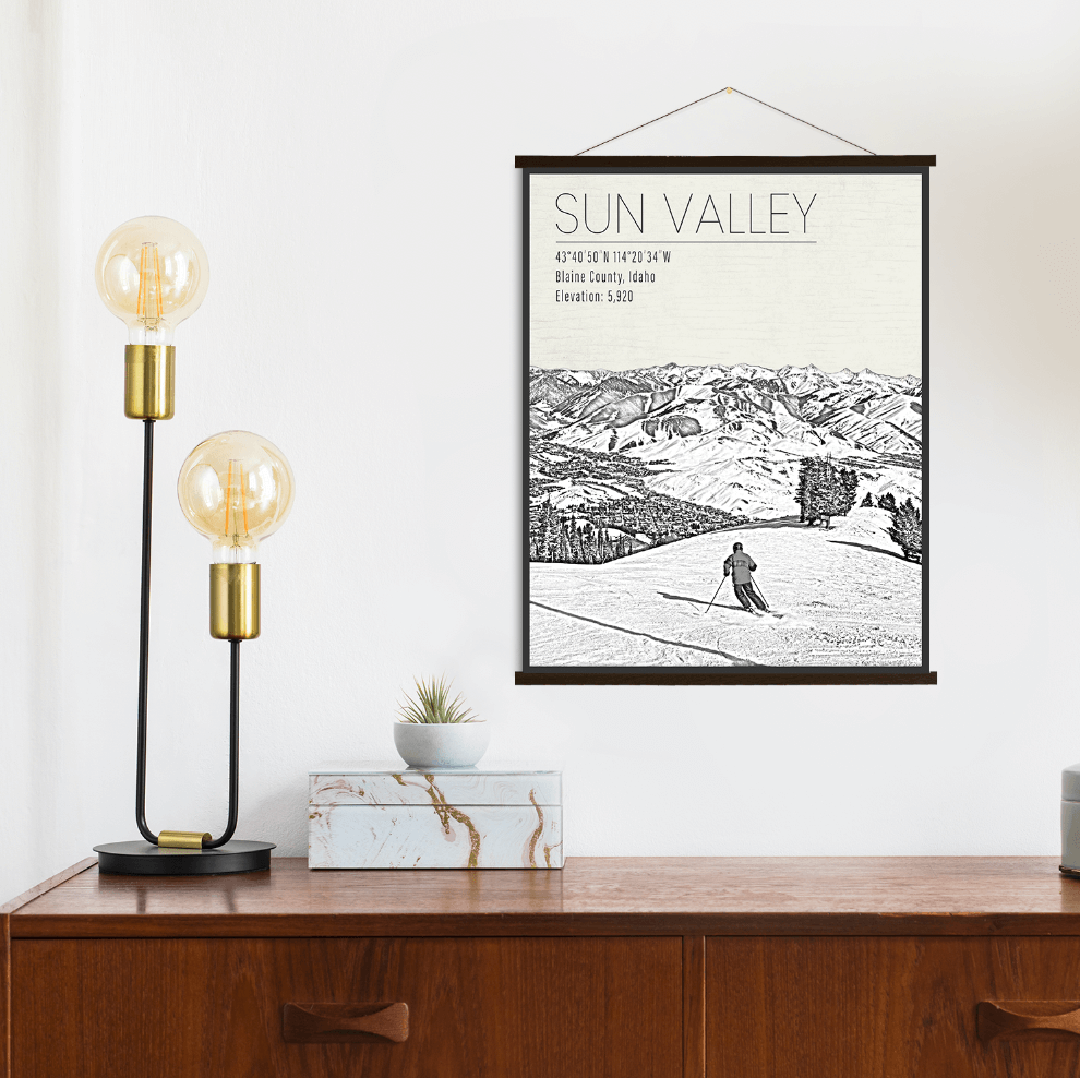 Sun Valley Idaho Ski Resort Print