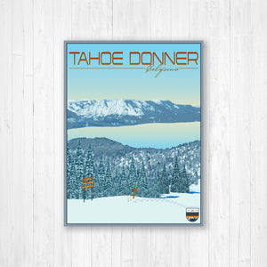 Tahoe Donner California Modern Illustration Print by Printed Marketplace