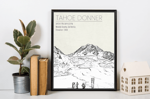 Tahoe Donner California Ski Resort Print
