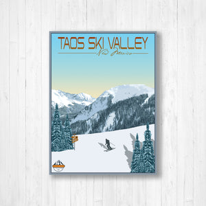 Taos New Mexico Modern Illustration Print by Printed Marketplace