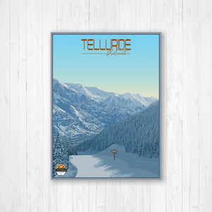 Telluride Colorado Modern Illustration Print by Printed Marketplace