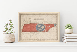Vintage Tennessee Map