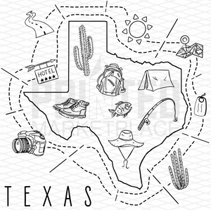 Illustrated Texas Shirt By Printed Marketplace