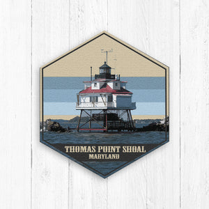 Thomas Point Shoal Maryland Hexagon Illustration