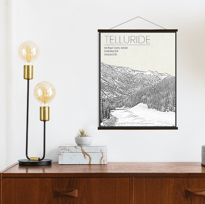 Telluride Colorado Canvas Ski Resort Print
