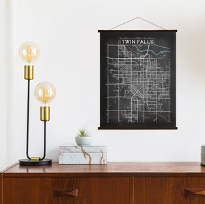Twin Falls Map by Printed Marketplace