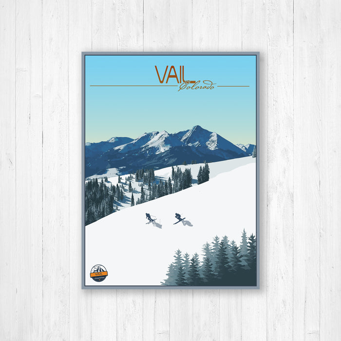 Vail Colorado Modern Illustration Print by Printed Marketplace