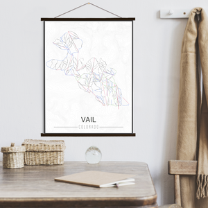 Vail Colorado Ski Trail Map by Printed Marketplace