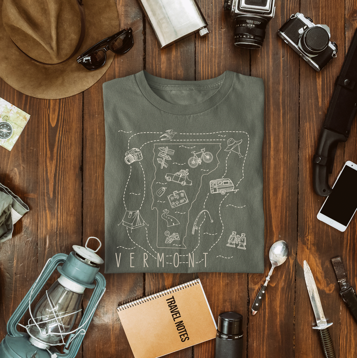 Illustrated Vermont Shirt By Printed Marketplace
