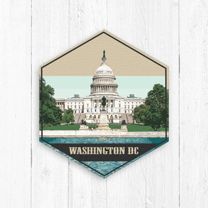 Washington DC Illustration Print