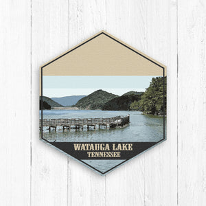Watauga Lake Tennessee Hexagon Illustration by Printed Marketplace