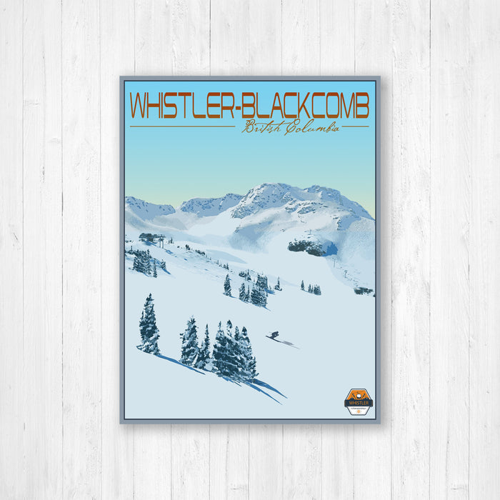 Whistler-Blackcomb British Columbia Modern Illustration Print by Printed Marketplace