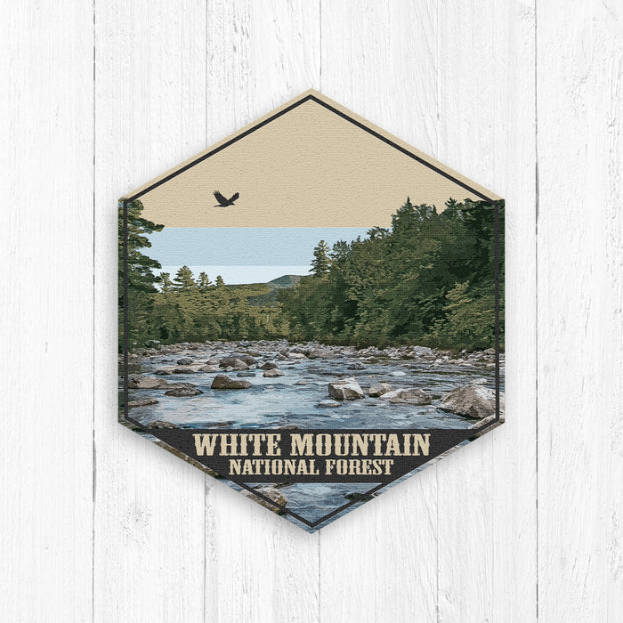 White Mountain National Forest Hexagon Illustration