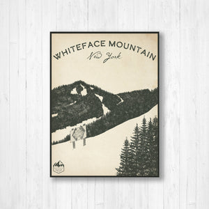 Whiteface Ski Resort Sketch Print