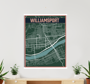 Williamsport Hanging Canvas By Printed Marketplace