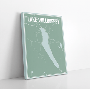 Lake Willoughby Vermont Street Map Print