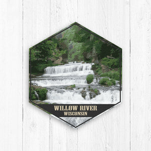 Willow River Wisconsin Hexagon Illustration