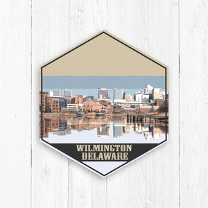 Wilmington Delaware Hexagon Illustration by Printed Marketplace
