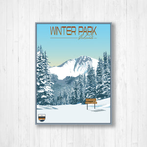 Winter Park Modern Illustration Print by Printed Marketplace
